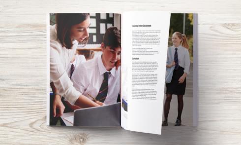 printed school prospectus